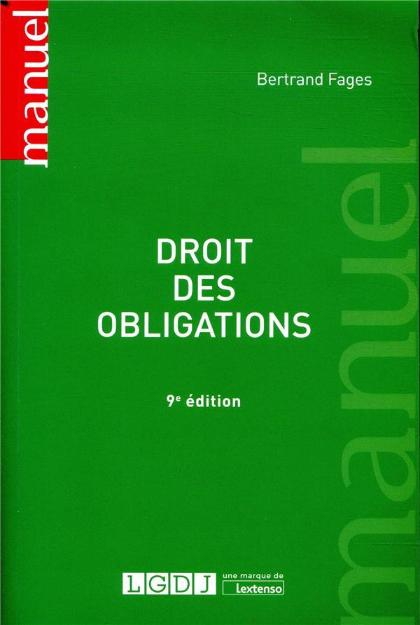 Droit des obligations (9e édition)