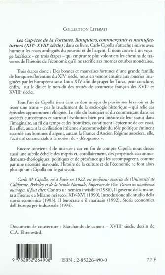 Les caprices de la fortune, banquiers, commercants et manufacturiers (xiv - xviii siecle)