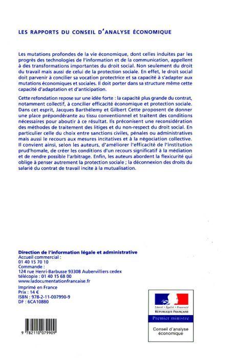Refondation du droit social : concilier protection des travailleurs et efficacité économique