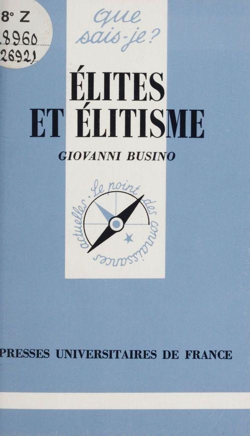 Elites et elitisme qsj 2692