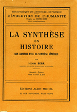 La Synthèse en histoire  - Henri Berr