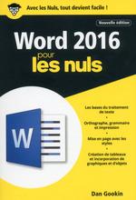 Vente Livre Numérique : Word 2016 pour les nuls (2e édition)  - Dan Gookin