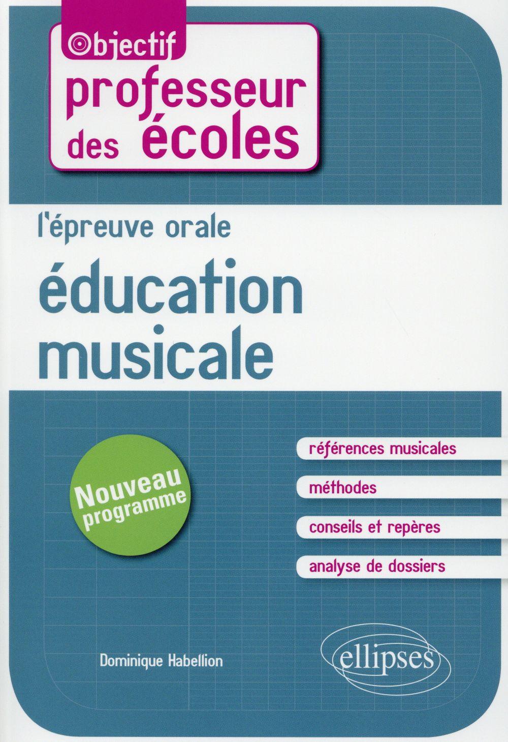 l'épreuve orale d'éducation musicale au concours de professeur des écoles