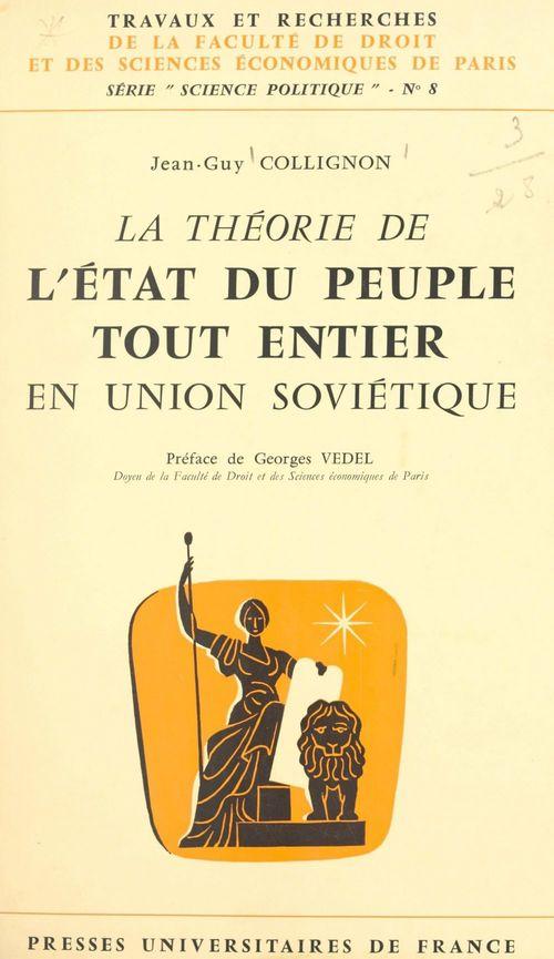 La théorie de l'État du peuple tout entier en Union soviétique