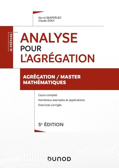 Analyse pour l'agrégation - Agrégation/Master Mathématiques