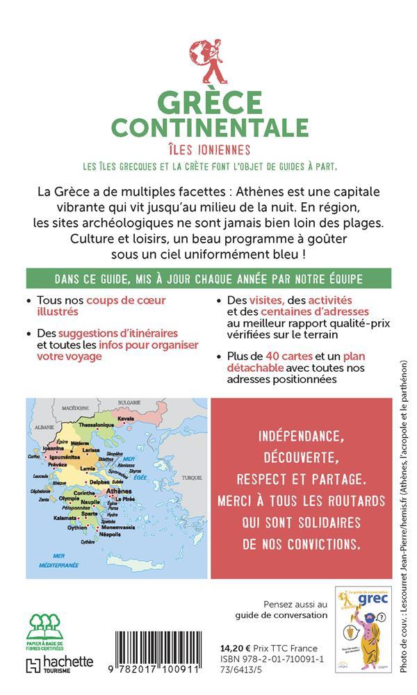 Guide du Routard ; Grèce continentale ; îles ioniennes (édition 2020/2021)