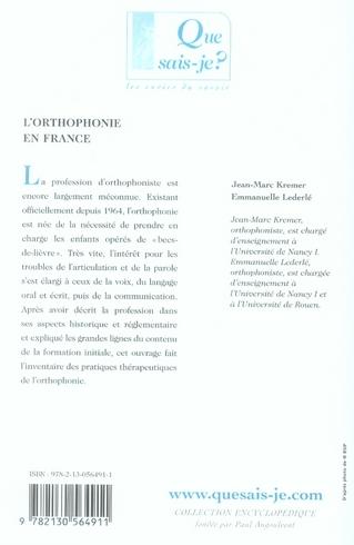 L'orthophonie en France (5e édition)