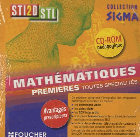 SIGMA ; mathématiques ; 1re Bac STI2D/STL