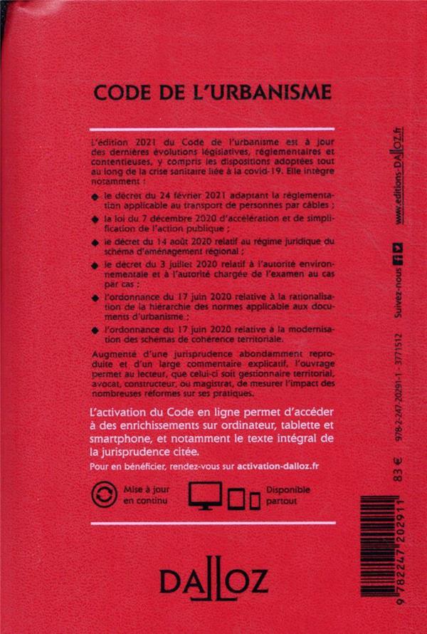 Code de l'urbanisme, annoté et commenté (édition 2021)