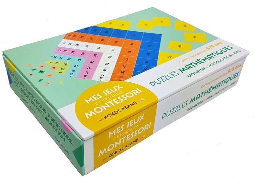Mes jeux Montessori ; les puzzles mathématiques - le jeu mathématiques inspiré de la pédagogie monte