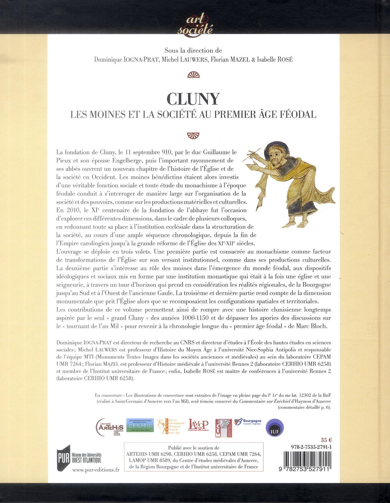 Cluny ; les moines et la société au premier âge féodal