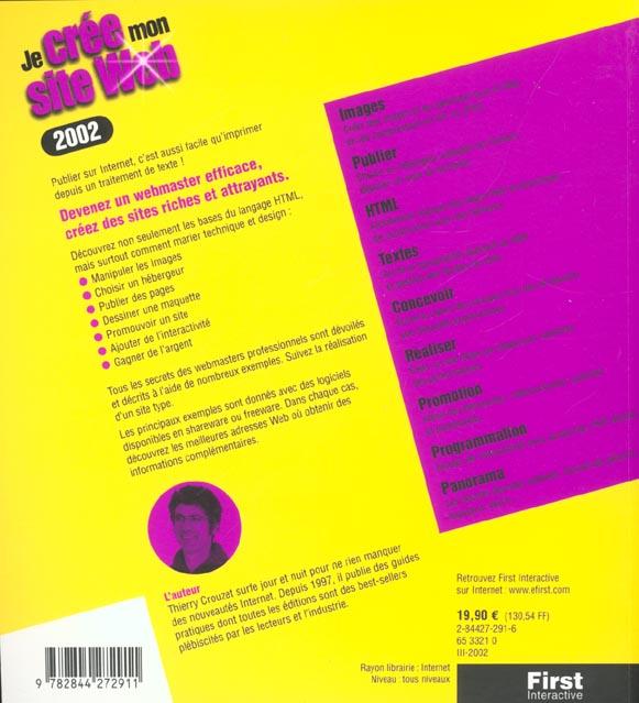 je cree mon site web ; edition 2002
