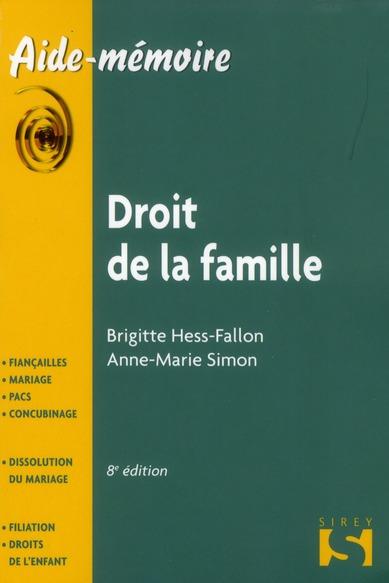 Droit de la famille (8e édition)