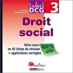 Vente Livre Numérique : Les Carrés DCG 3. Droit social  - Dominique Grandguillot
