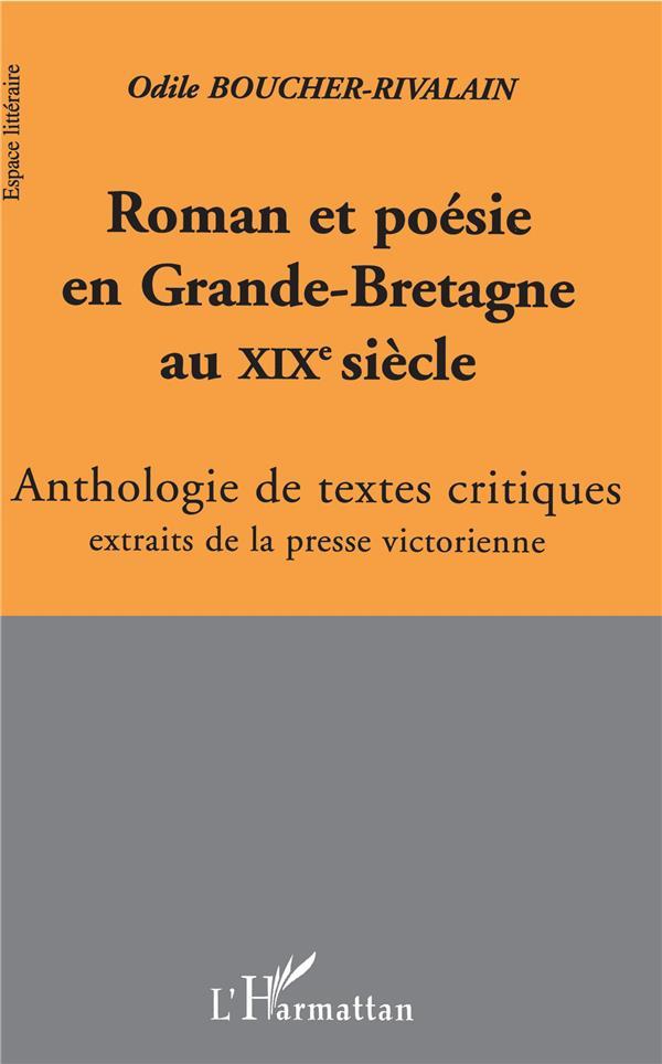 Roman et poésie en Grande-Bretagne au XIXe siècle ; anthologie de textes critiques extraits de la presse victorienne