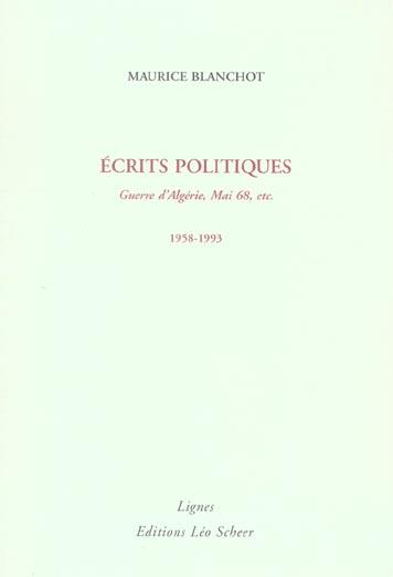 Ecrits politiques (1958-1993)
