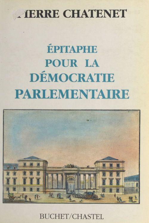 Epitaphe pour la democratie