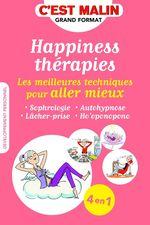 Vente EBooks : Happiness thérapies, c'est malin  - Jean-Michel Jakobowicz - Carole Berger - Carole Serrat - Cécile Neuville