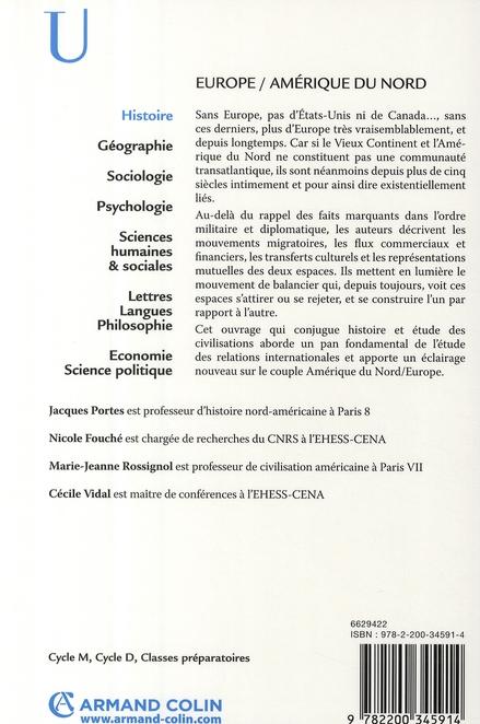 Europe / Amérique du Nord ; cinq siècles d'interactions