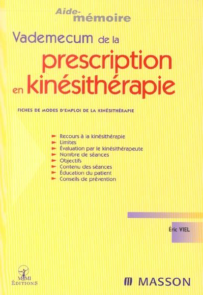 Vademecum Prescription En Kinesitherapie