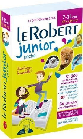 Le dictionnaire le Robert junior ; 7/11 ans ; CE, CM, 6e (édition 2019)