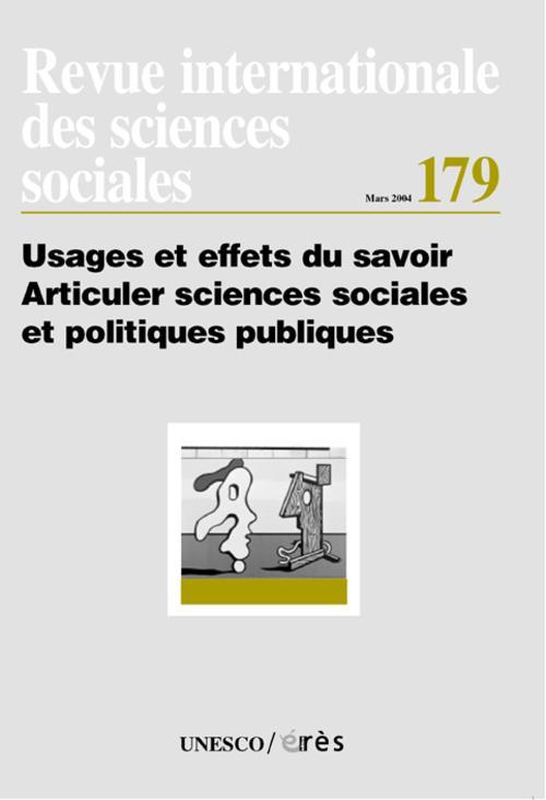 Riss n.179 ;usages et effets du savoir, articuler sciences sociales et politiques publiques