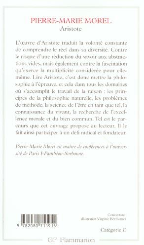 Aristote - une philosophie de l'activite
