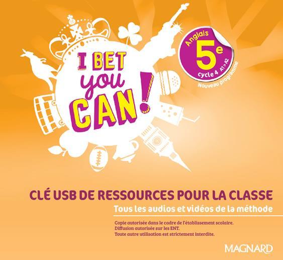 I Bet You Can! ; anglais ; 5e ; clé usb ressources classe (édition 2018)