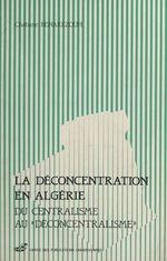 La déconcentration en Algérie