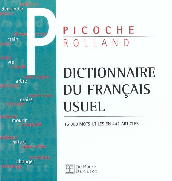 Dictionaire Du Francais Usuel 15.000 Mots Utiles En 442 Articles
