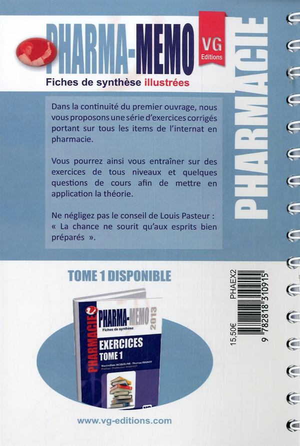 Pharma-memo exercices tome 2