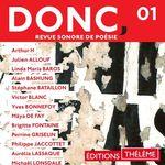 Vente AudioBook : DONC, Revue sonore de poésie (Volume 1)