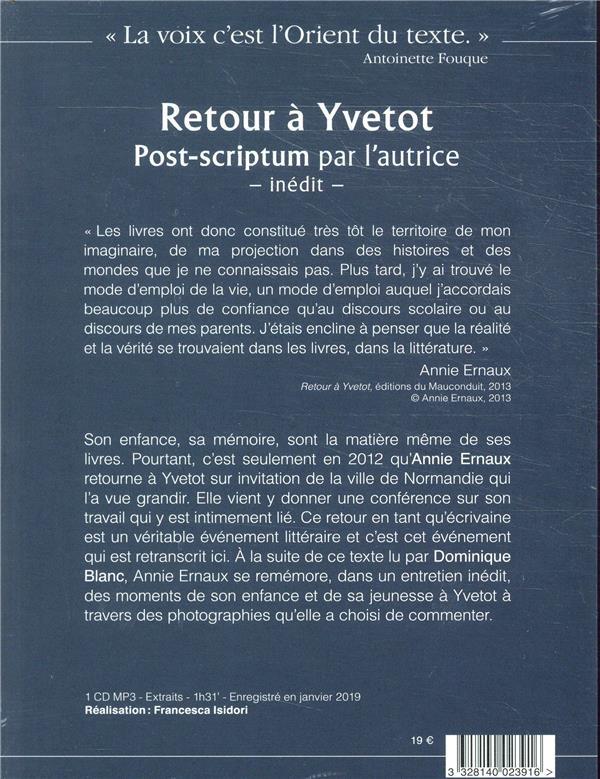 Retour à Yvetot ; post-scriptum inédit