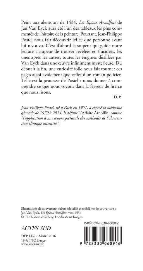 L'affaire Arnolfini ; enquête sur un tableau de Van Eyck