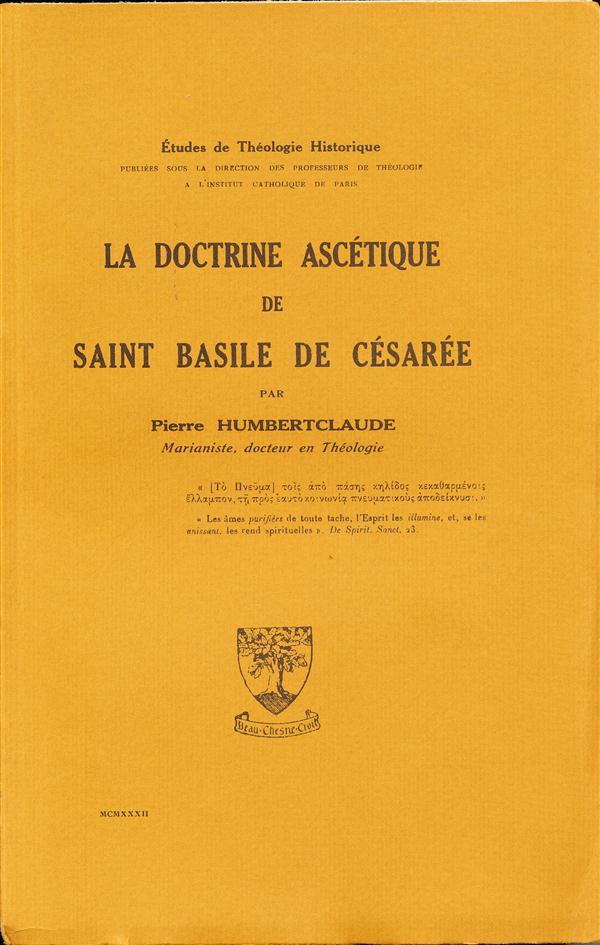 La doctrine ascétique de Basile de Césarée