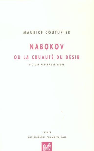 Nabokov ou la cruaute du desir