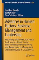 Advances in Human Factors, Business Management and Leadership  - Salman Nazir - Jussi Ilari Kantola - Vesa Salminen