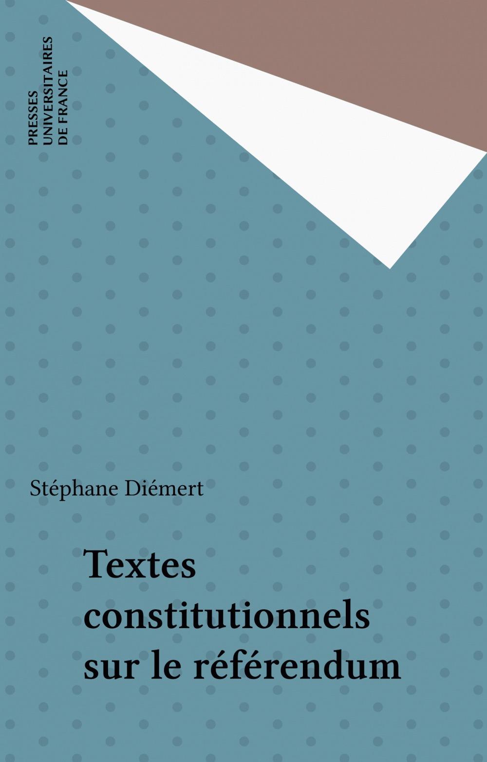 Textes constitutionnels sur le référendum