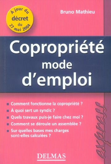 Copropriete, mode d'emploi (1re édition)