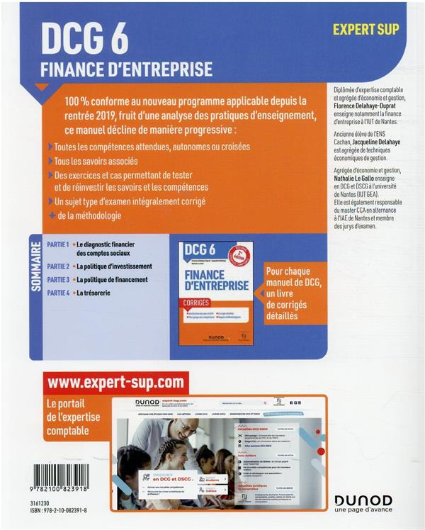 DCG 6 : finance d'entreprise ; manuel (édition 2021/2022)