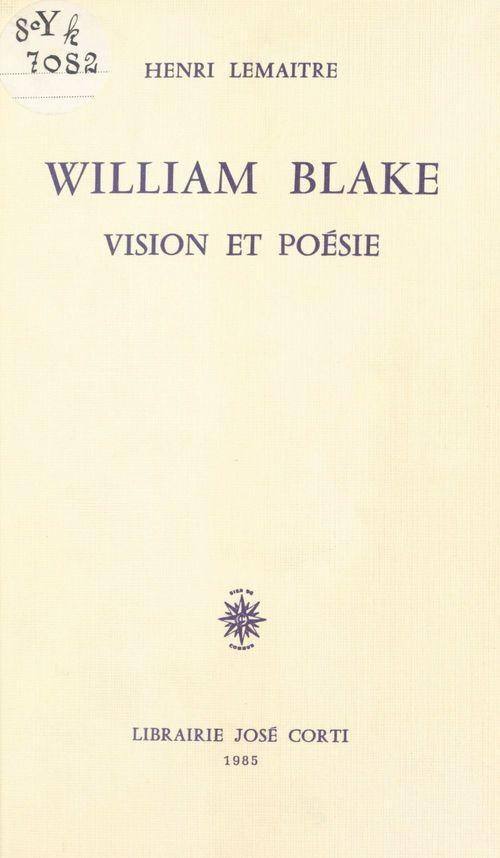 William blake vision et poesie