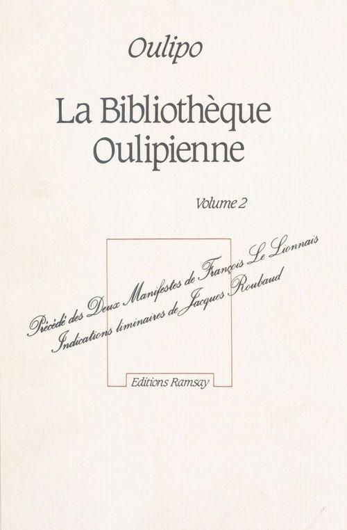 La bibliothèque oulipienne
