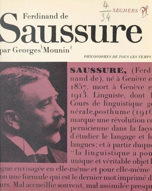 Saussure ou le structuralisme sans le savoir