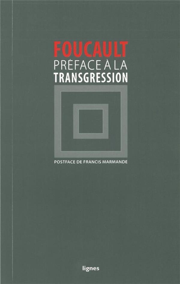 Preface A La Transgression