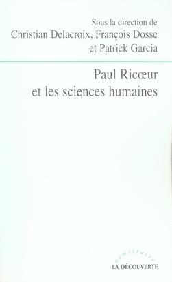 Paul ricoeur et les sciences humaines