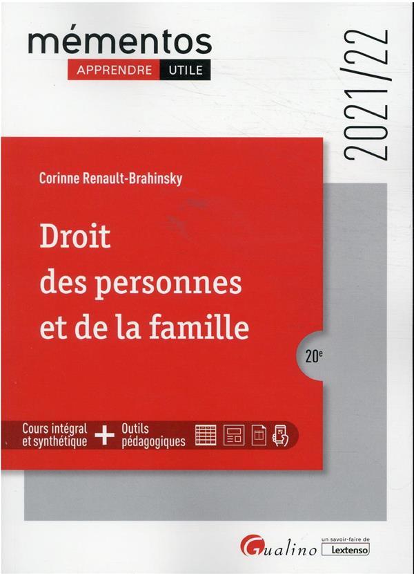 Droit des personnes et de la famille (édition 2021/2022)