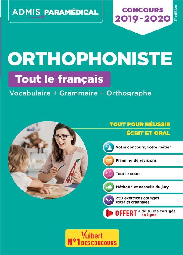 ORTHOPHONISTE  -  TOUT LE FRANCAIS (CONCOURS 2019-2020)