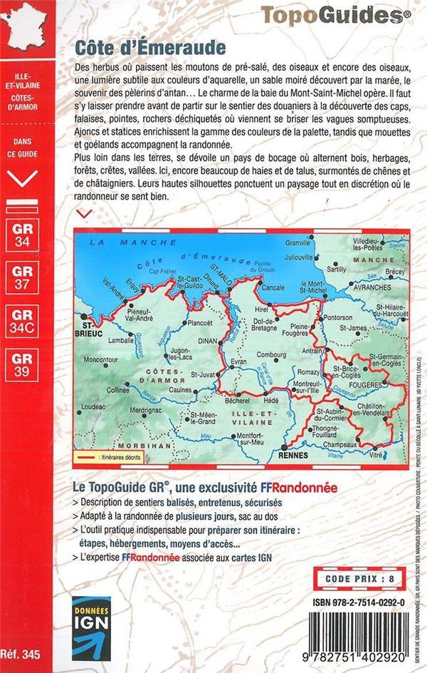 Côte d'Emeraude ; les chemins du Mont-Saint-Michel ; GR 34 37 34C 39