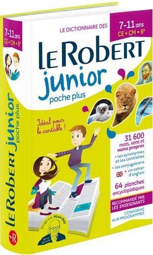 Le dictionnaire Robert junior poche plus ; 7/11 ans ; CE, CM, 6e (édition 2019)