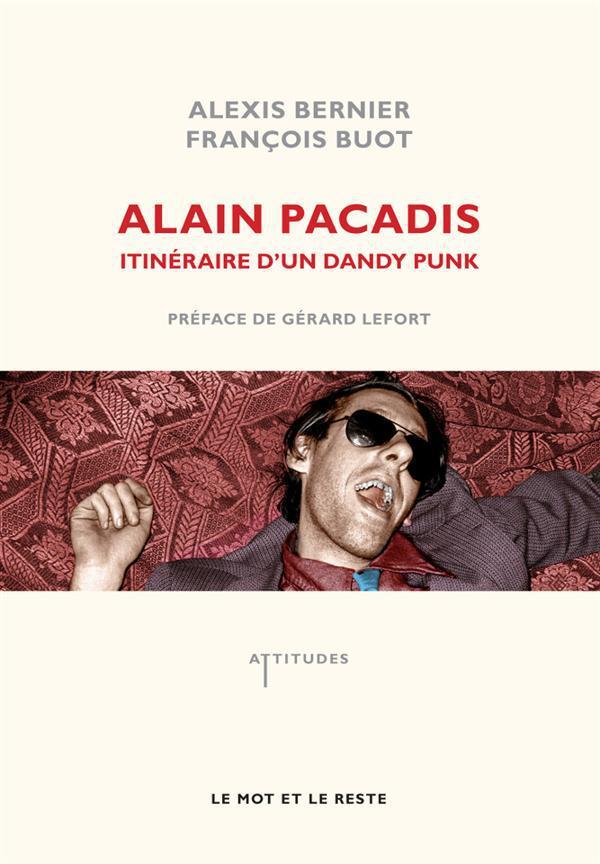 Alain Pacadis ; Itineraire D'Un Dandy Punk